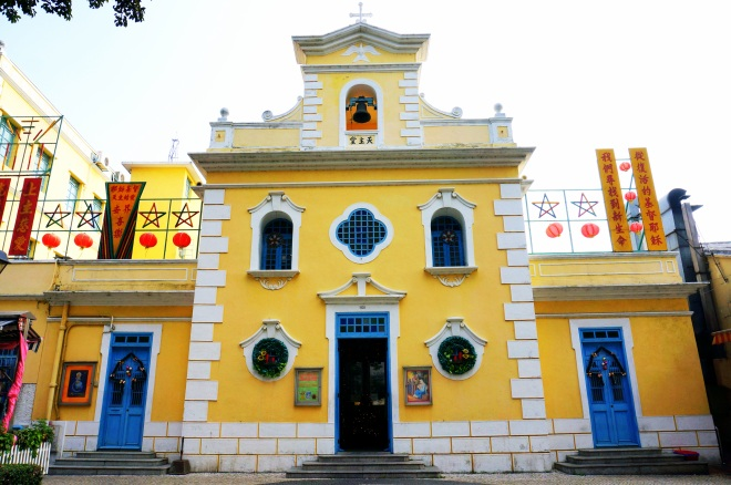 Chapel of Saint Francis Xavier built in 1928, is an example of beautiful colonial architecture that can be seen in many parts of Macau.